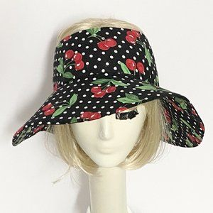 Cherry Print Sun Hat Visor